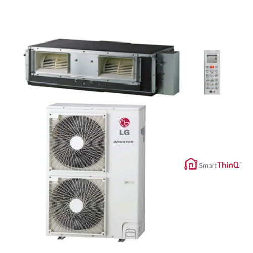 LG 36,000 BTU 17.6 SEER High Static Ducted Heat Pump System