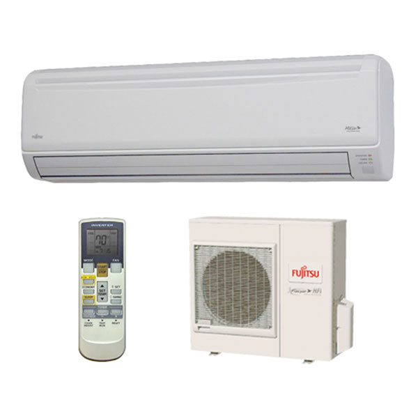 Fujitsu 18,000 BTU 20 SEER Extra Low Temperature Wall Mounted Heat Pump System with Wi-Fi