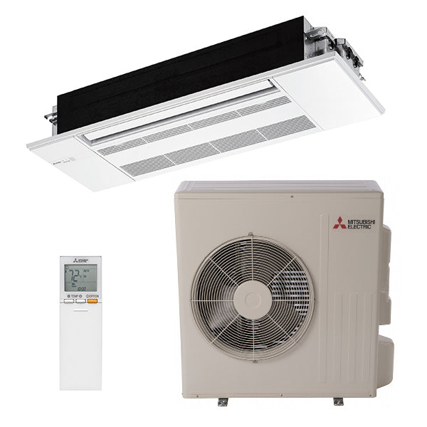 Mitsubishi KP 18,000 BTU 22.3 SEER One Way Ceiling Cassette Heat Pump System