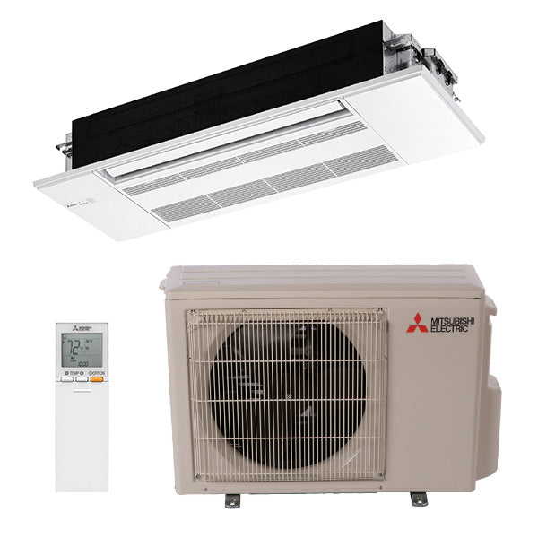 Mitsubishi KP 9,000 BTU 19.5 SEER One-Way Ceiling Recessed Heat Pump System
