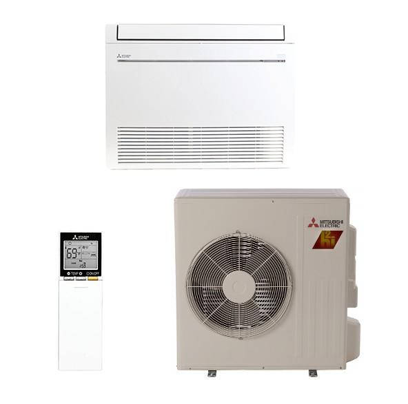 Mitsubishi Ductless 18K Floor Mounted System