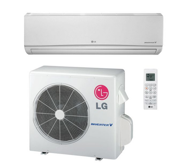 LG Mega 9,000 BTU 17 SEER Wall Mounted 115V Heat Pump System