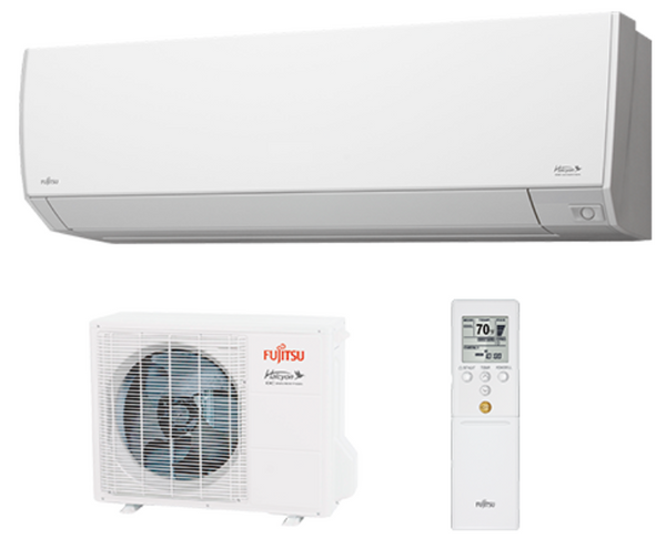 Fujitsu 12,000 BTU 29.3 SEER Extra Low Temperature Wall Mounted Unit with Wi-Fi