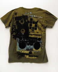 Olive Green Boombox Tee
