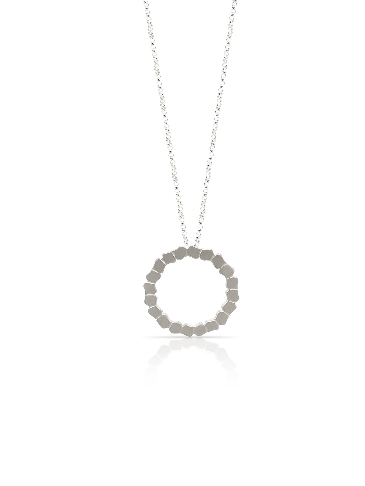 Artisan Pendant Handcrafted Jewelry Sterling Silver Pendant Circle Pendant