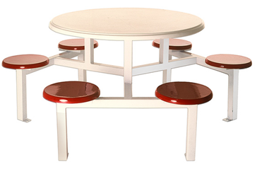 6 Seater Round Stool Set