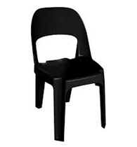 Alpine Chair Recycled Plastic Black Only 375H