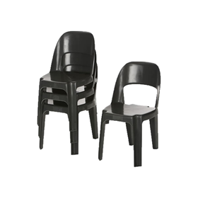 Alpine Chair Recycled Plastic Black Only 450H