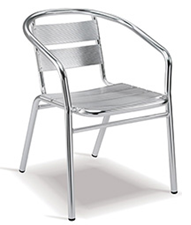 Stinger Chair - With Arms - Aluminium