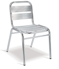 Stinger Chair - No Arms - Aluminium