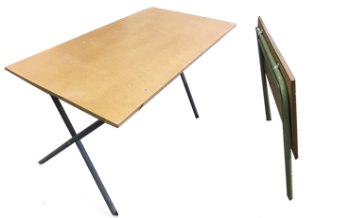 Folding Supawood Exam Table