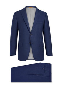 Hickey Freeman - NAVY SHARKSKIN TASMANIAN SUIT