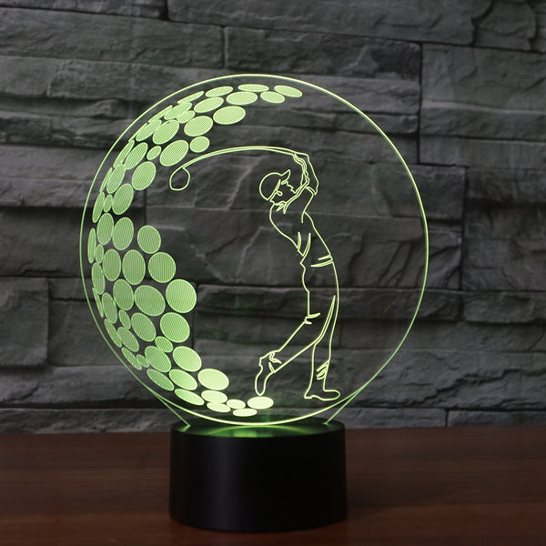 7 Color LED Golf Lamp