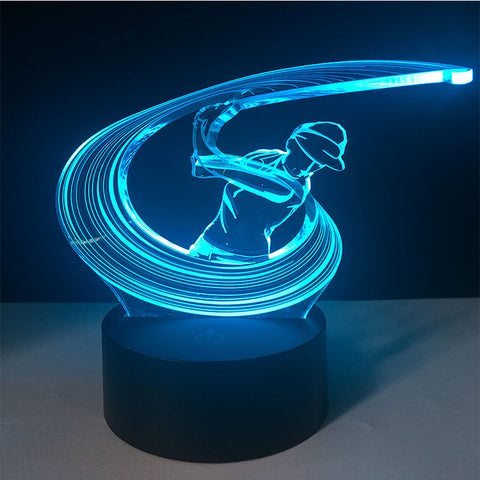 "7 Color LED ""Full Swing"" Golf Lamp"