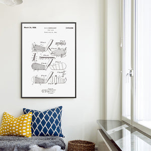Golf Club Patent Wall Art
