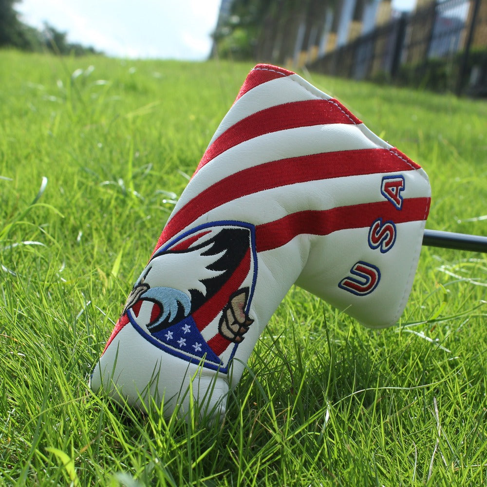 USA Putter Head Cover with Eagle Emblem