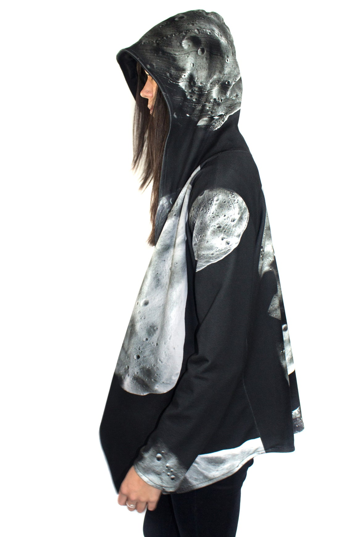 Asteroid Print Hoodie, Shadowplaynyc, Galaxy Clothing