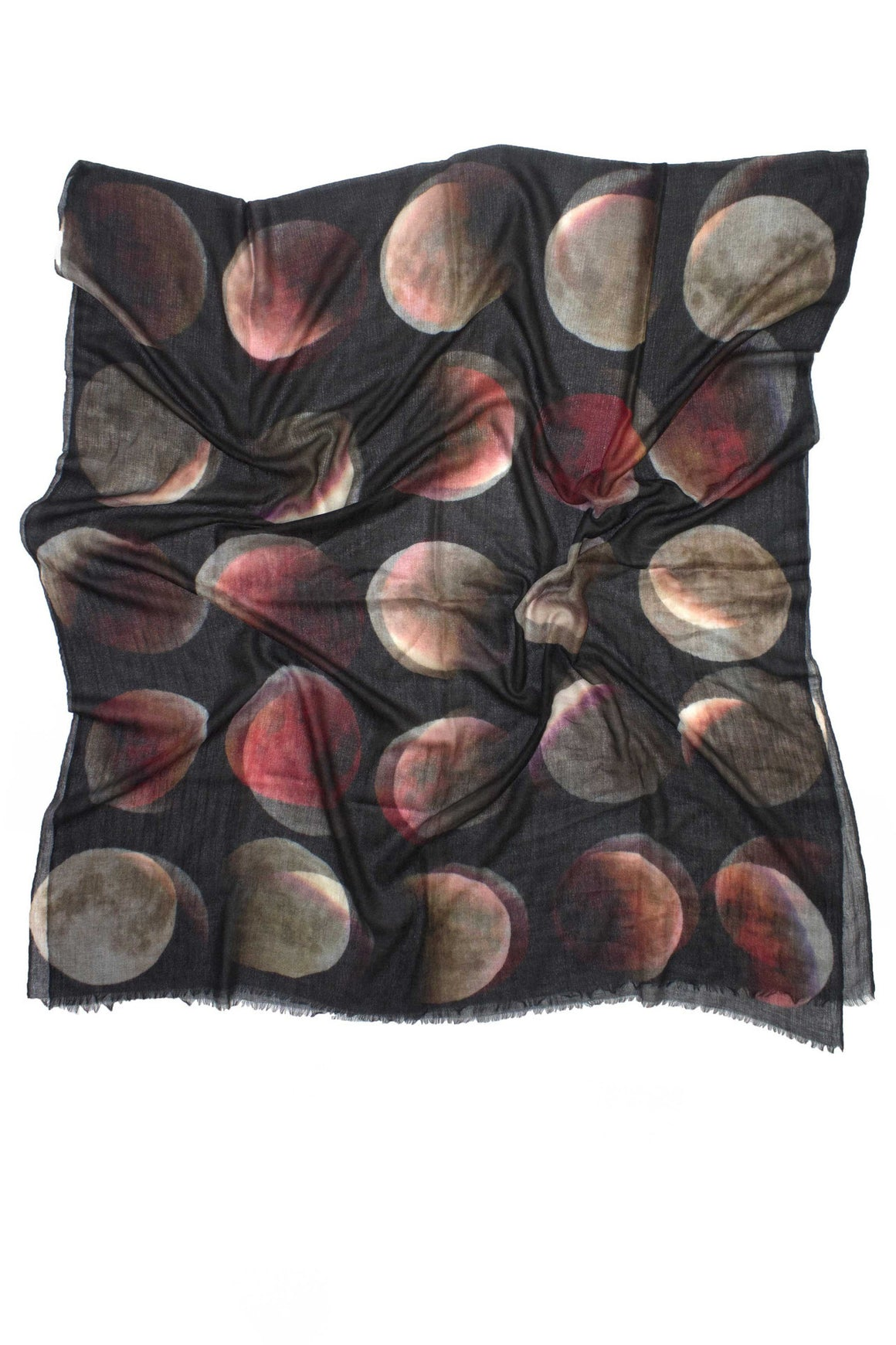 100% Cashmere Blood Moon Scarf