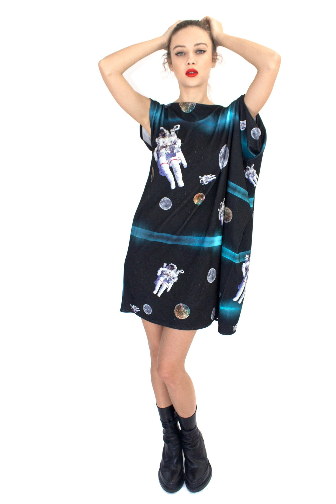 Astronaut Galaxy Dress, Shadowplay New York, Galaxy Print Clothing