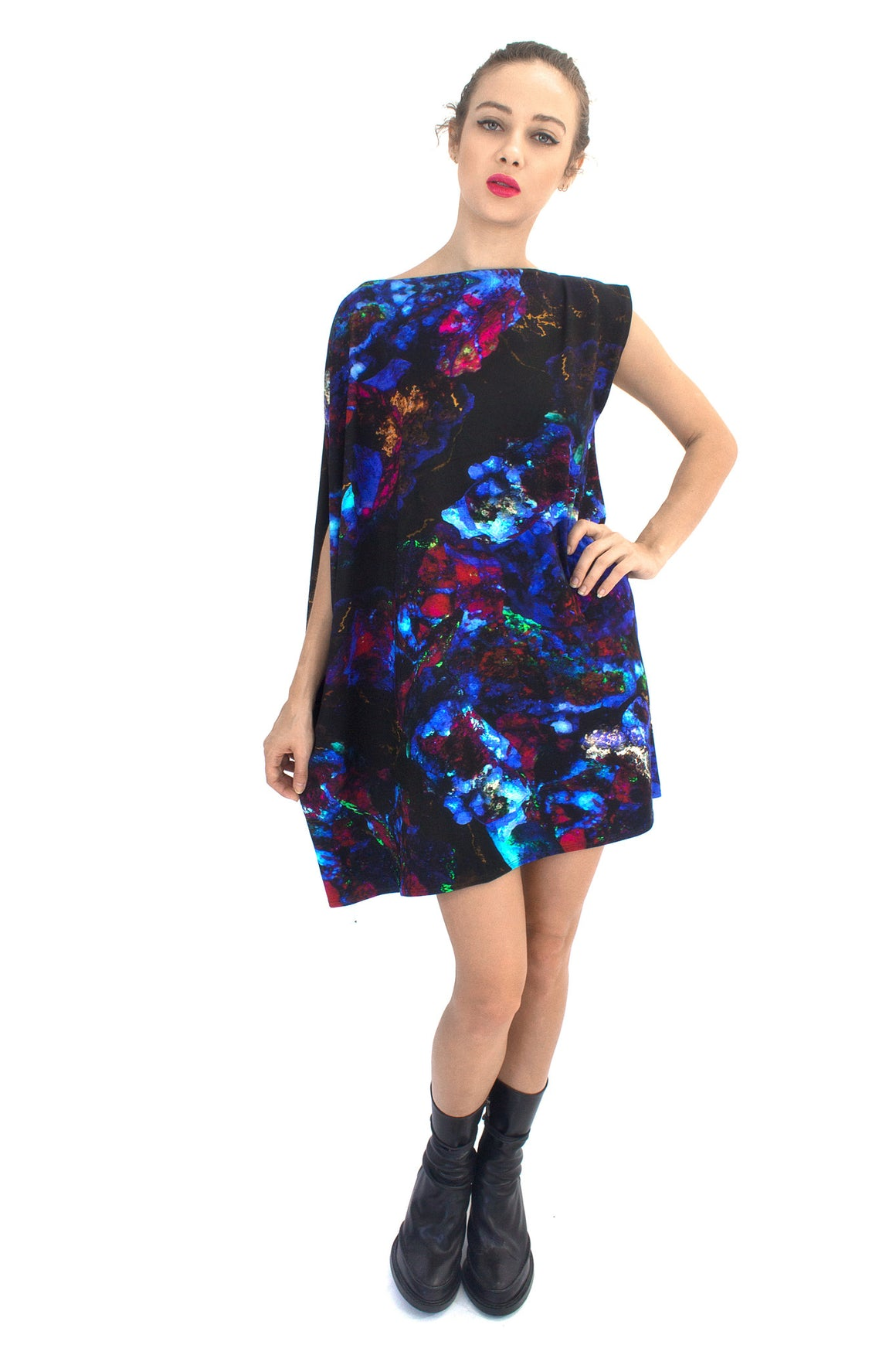 Fluorescent Dress, Shadowplay New York, Galaxy Print Clothing