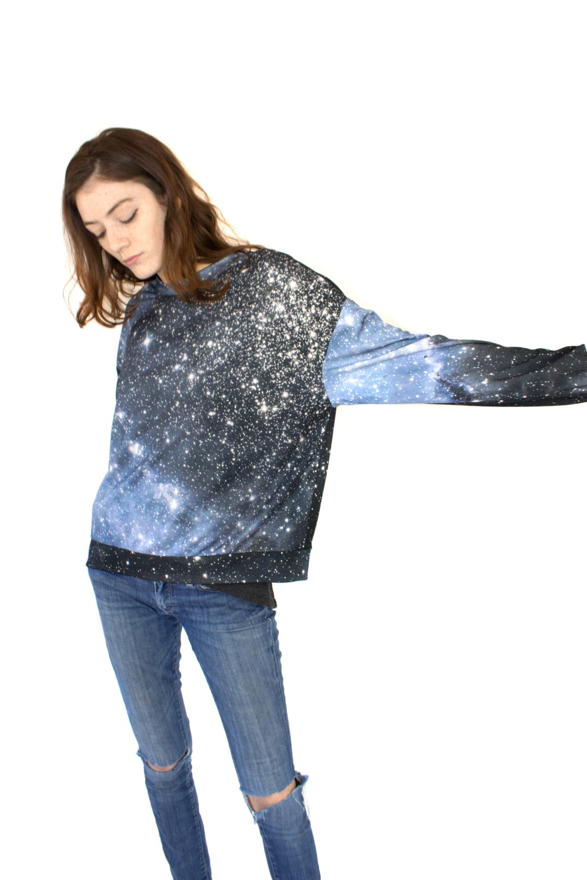 Hubble Galaxy Sweatshirt, Shadowplay New York, Galaxy Print Clothing