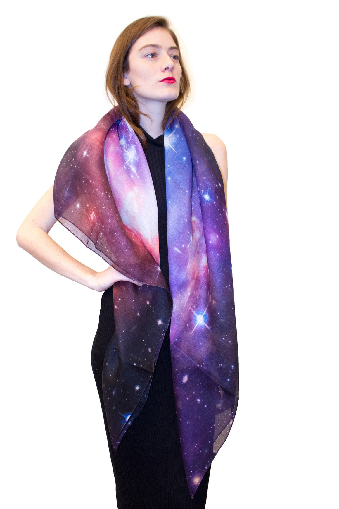 Galaxy Scarf, Shadowplay New York, Galaxy Print Clothing