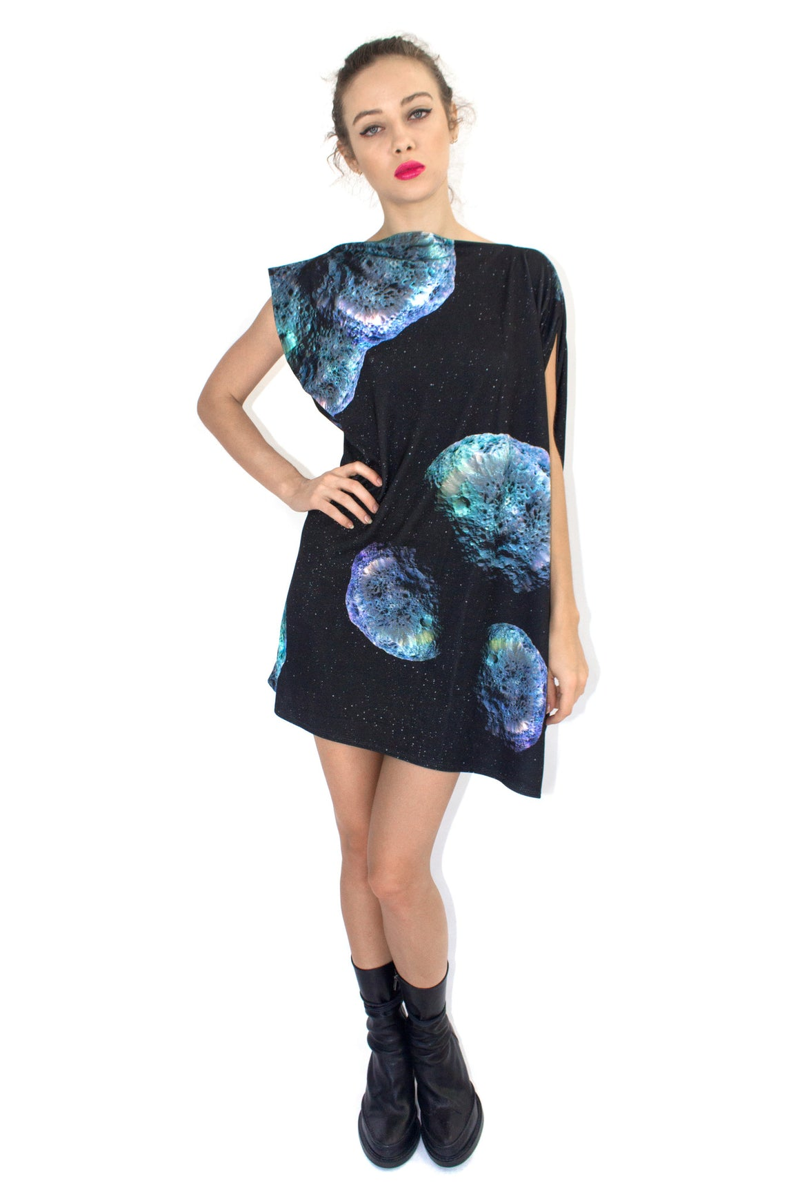 Hyperion Galaxy Dress, Shadowplay New York, Galaxy Print Clothing