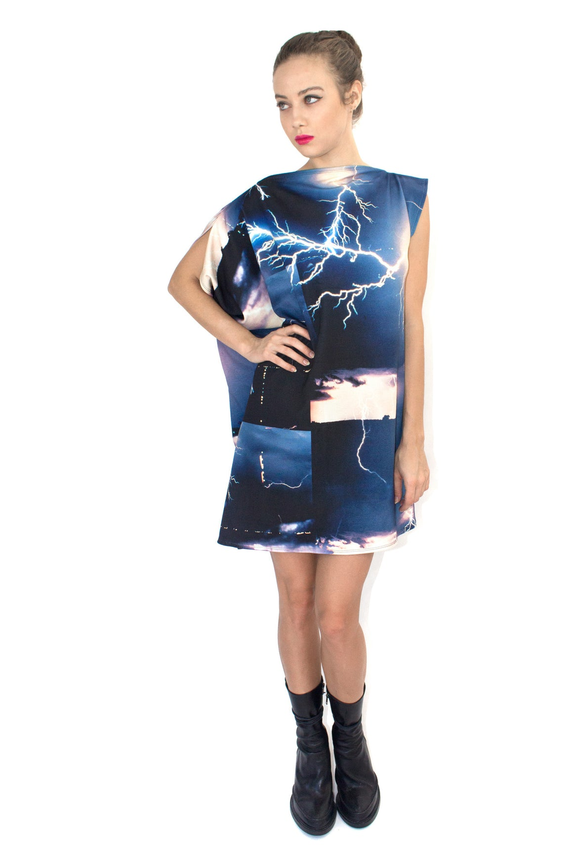 Lightning Dress, Shadowplay New York, Galaxy Print Clothing