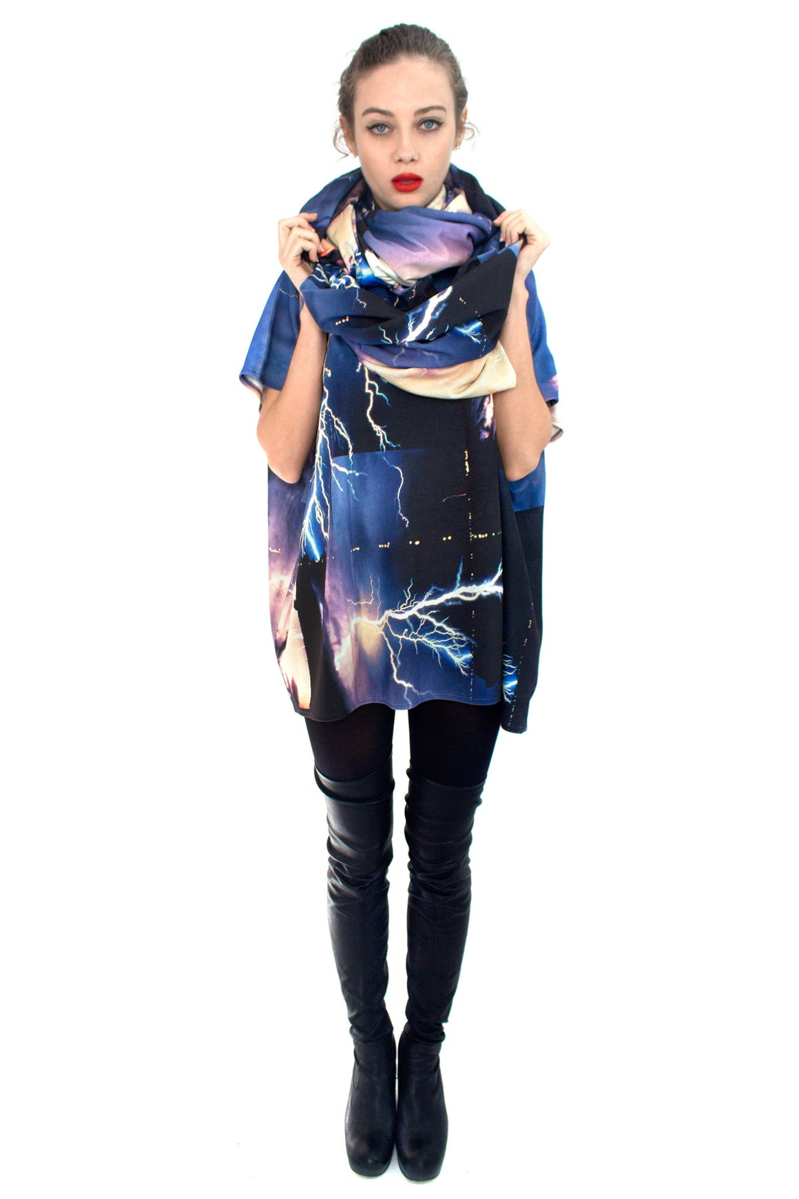 Lightning Top, Shadowplay New York, Galaxy Print Clothing