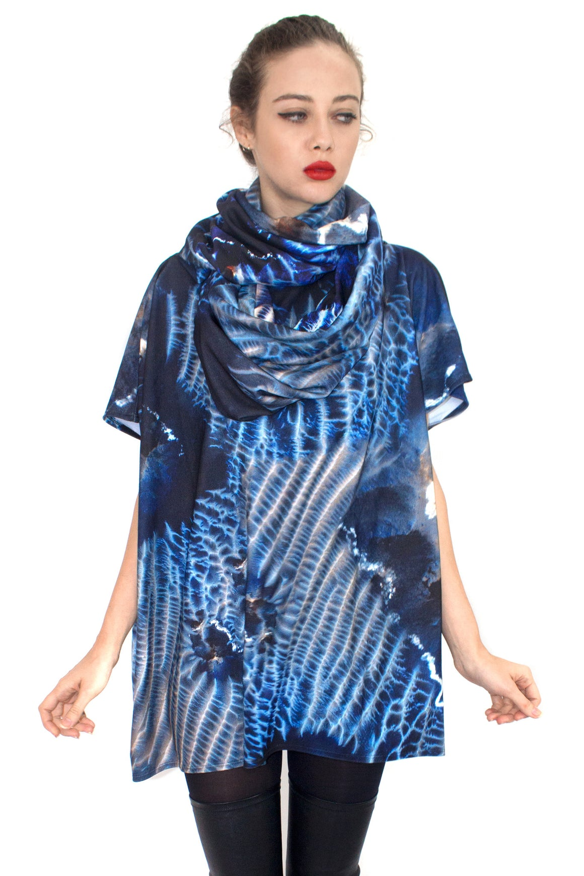 Mars Dunes Jersey Top, Shadowplay New York, Mars Print, Space Clothing