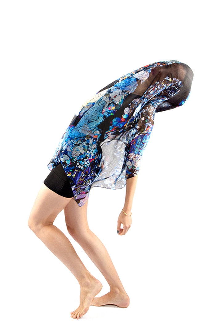 Meteorite Section Scarf, Shadowplay New York, Galaxy Print Clothing