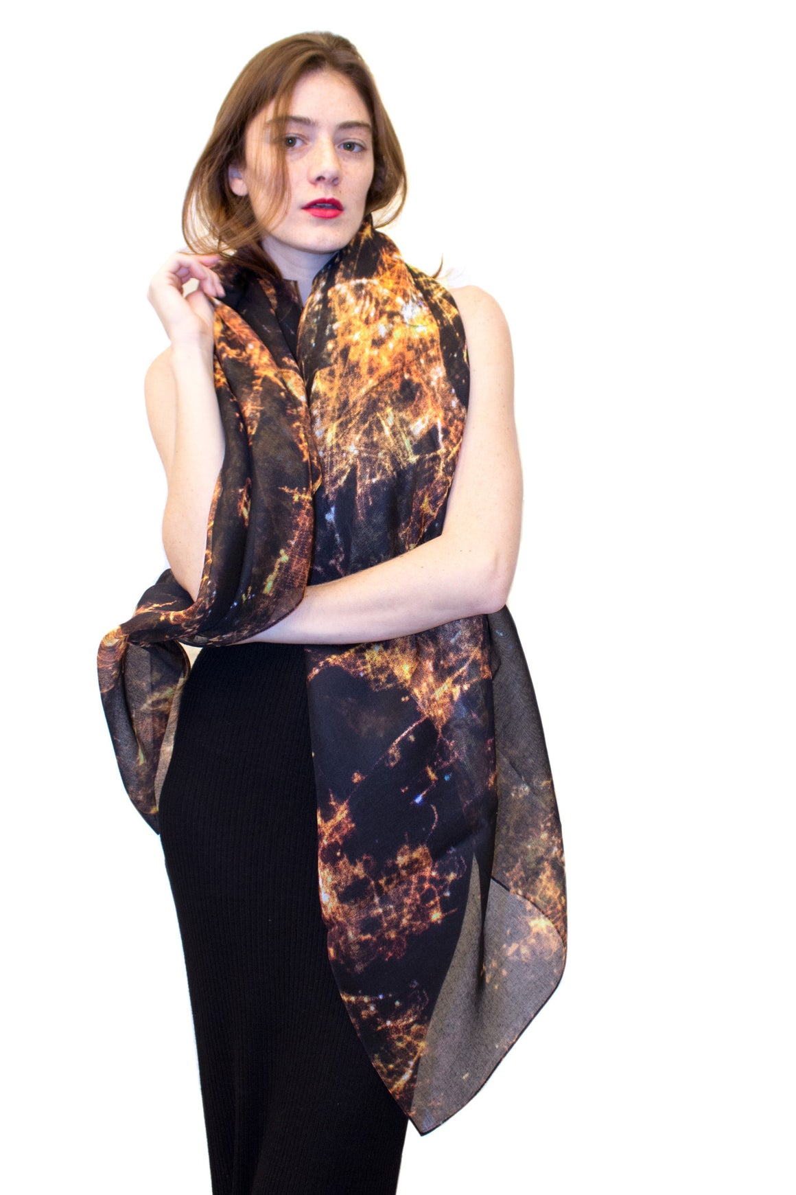 Midnight in Paris Scarf, Shadowplay New York, Galaxy Print Clothing