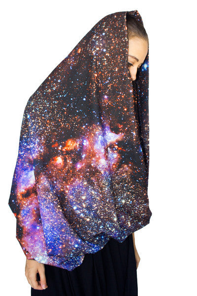 Milky Way Galaxy Scarf, Galaxy Print Clothing, Galaxy Scarf