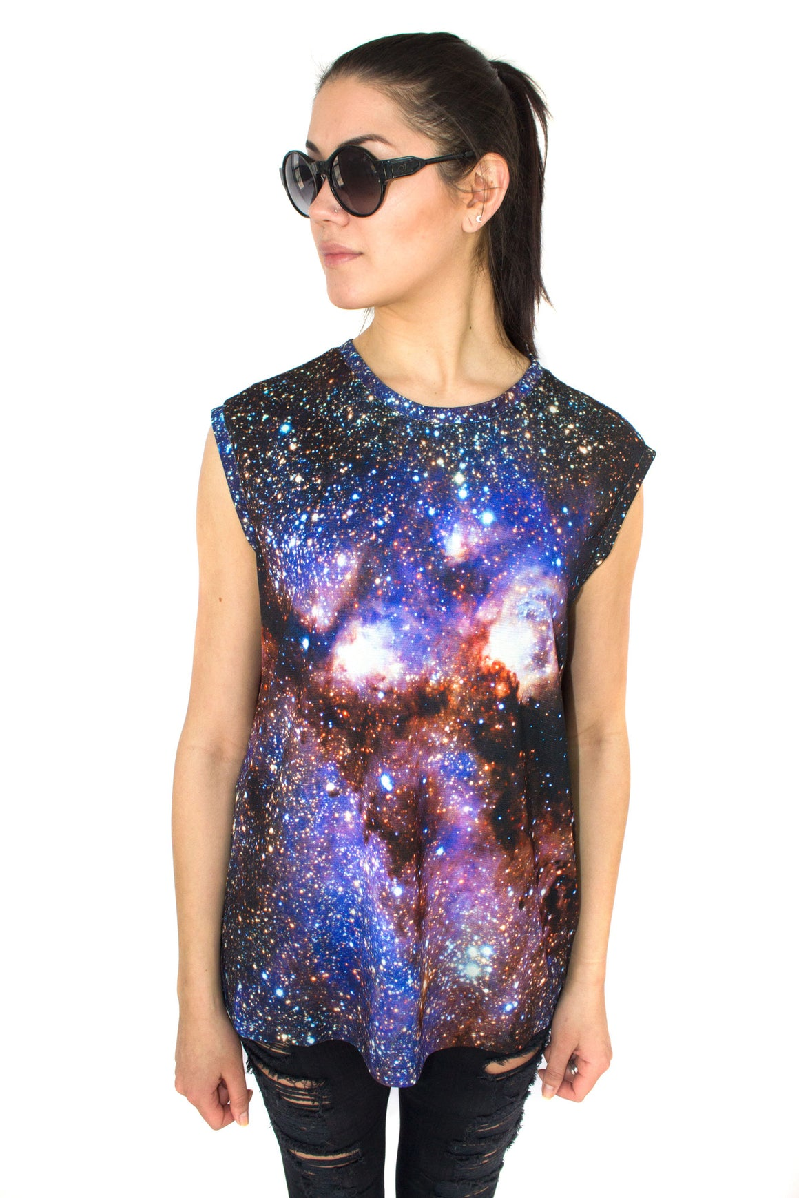 Milky Way Galaxy Tank, Shadowplaynyc, Galaxy Print Clothing