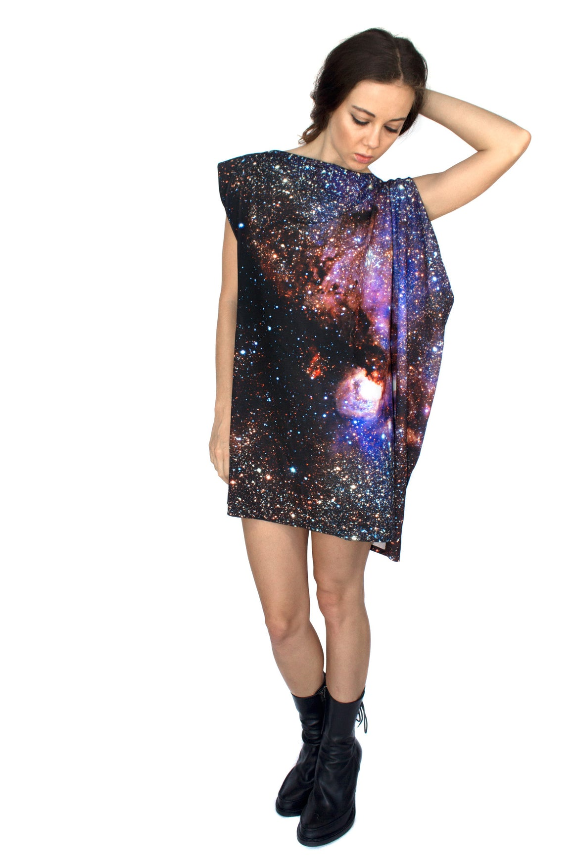 Milky Way Galaxy Jersey Dress