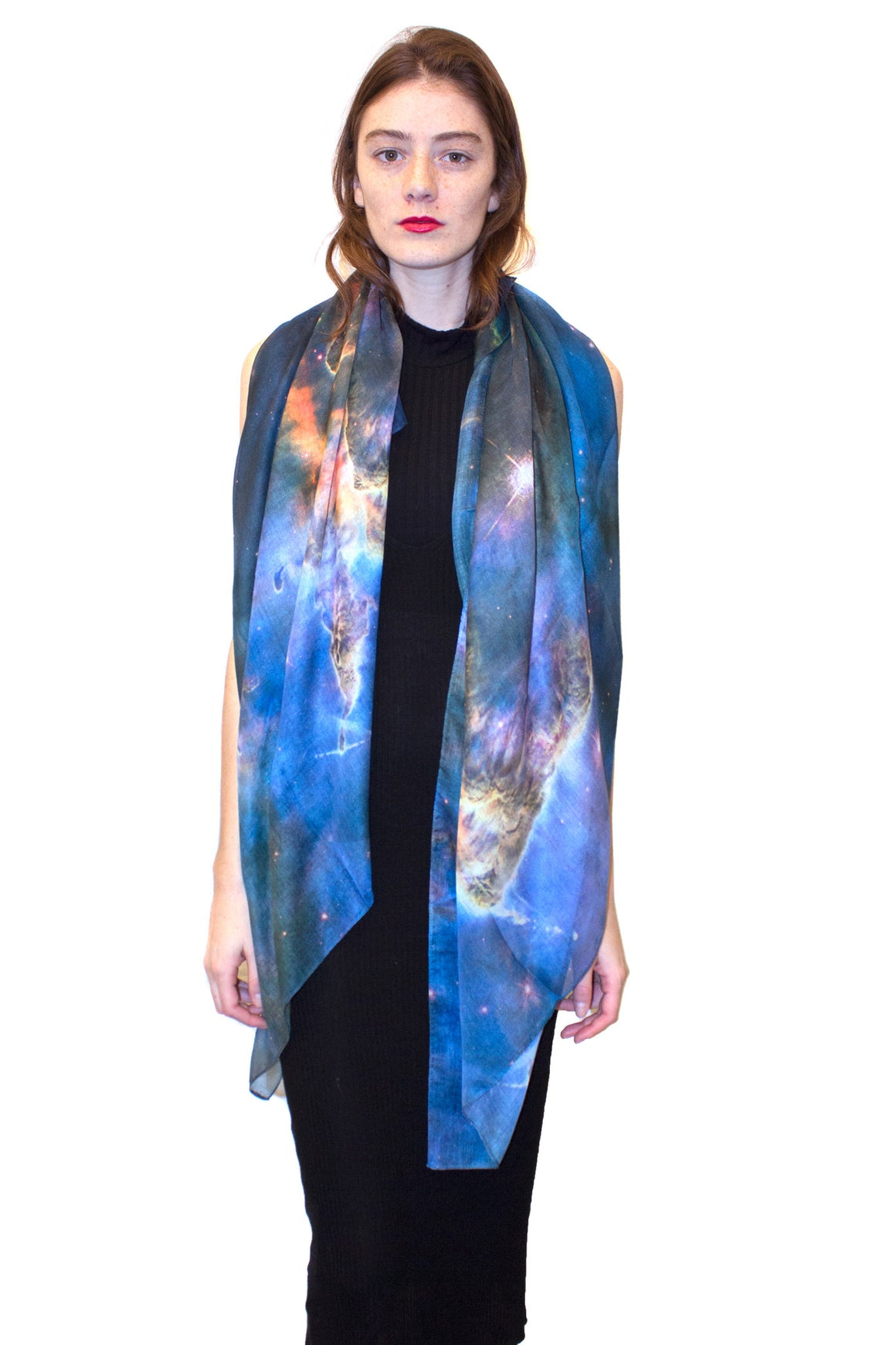 Mystic Mountain Nebula Scarf, Shadowplay New York, Galaxy Scarf
