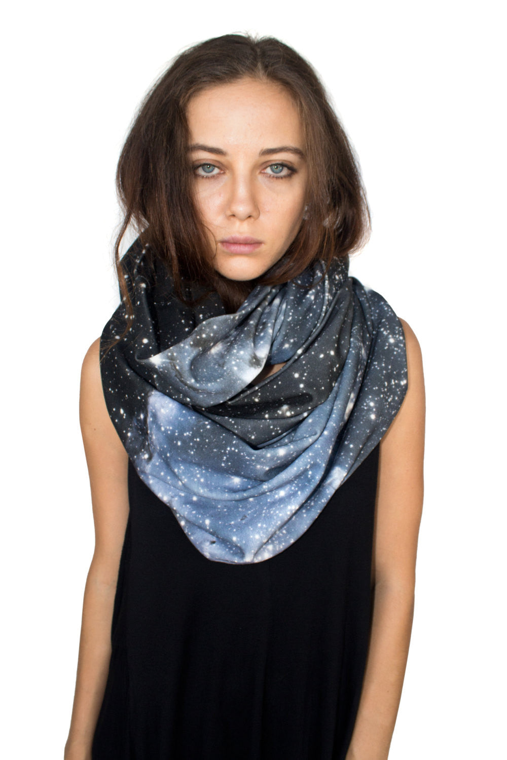 Hubble Nebula Scarf, Shadowplay New York, Galaxy Print Clothing