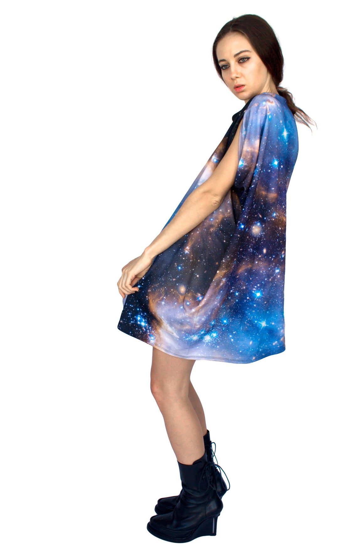 Sagan Galaxy Dress, Shadowplay New York, Galaxy Print Clothing