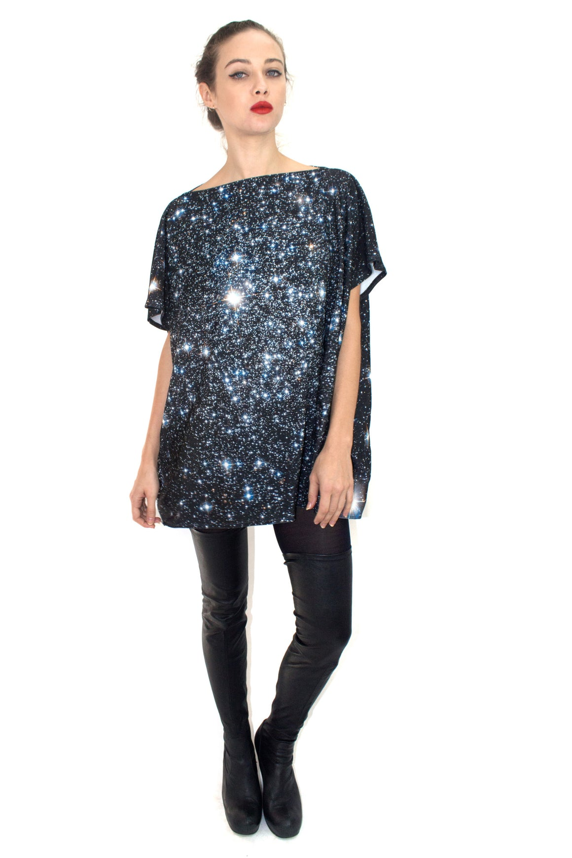 Star Cluster Jersey Top, Shadowplay New York, Galaxy Print Clothing