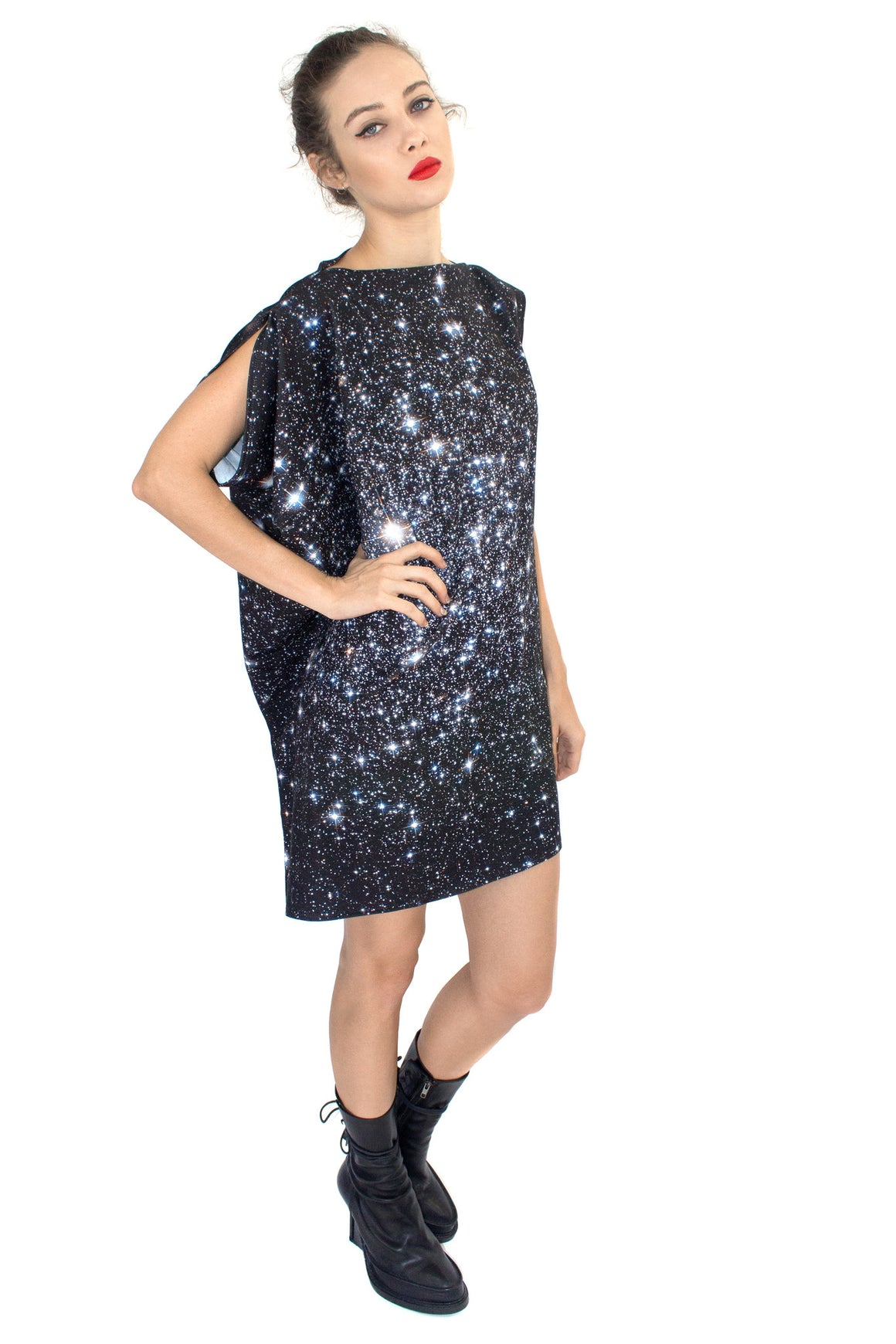 Star Cluster Jersey Dress, Shadowplay New York, Galaxy Print Clothing