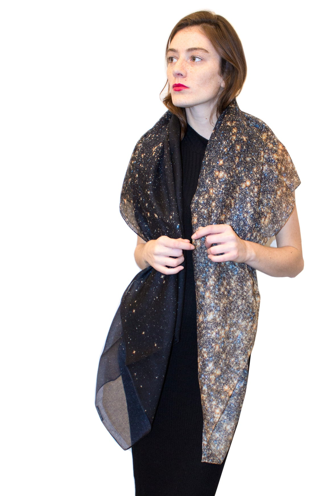Stardust Gold Galaxy Scarf, Shadowplay New York