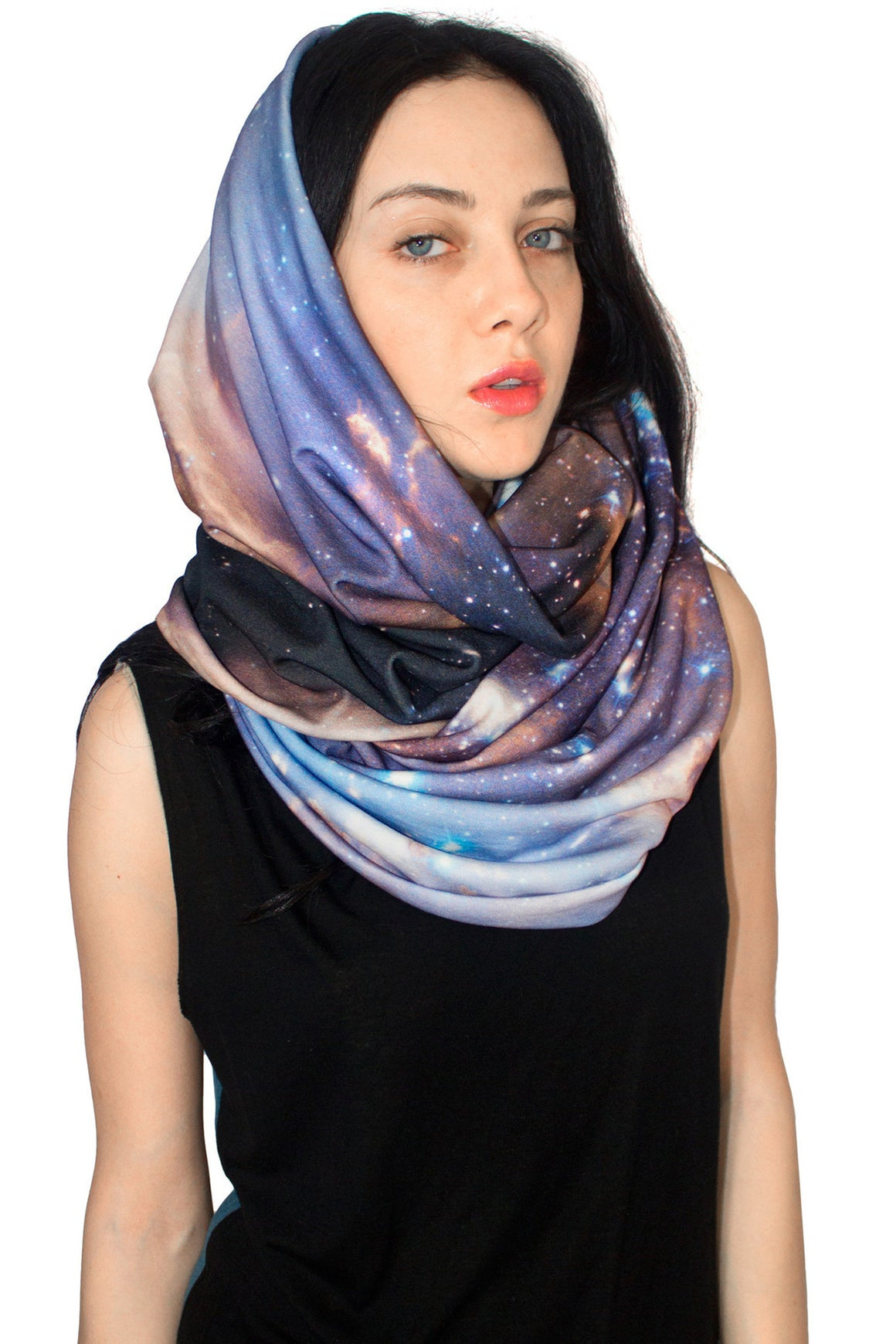 Sagan Galaxy Scarf, Shadowplay New York, Galaxy Print Clothing