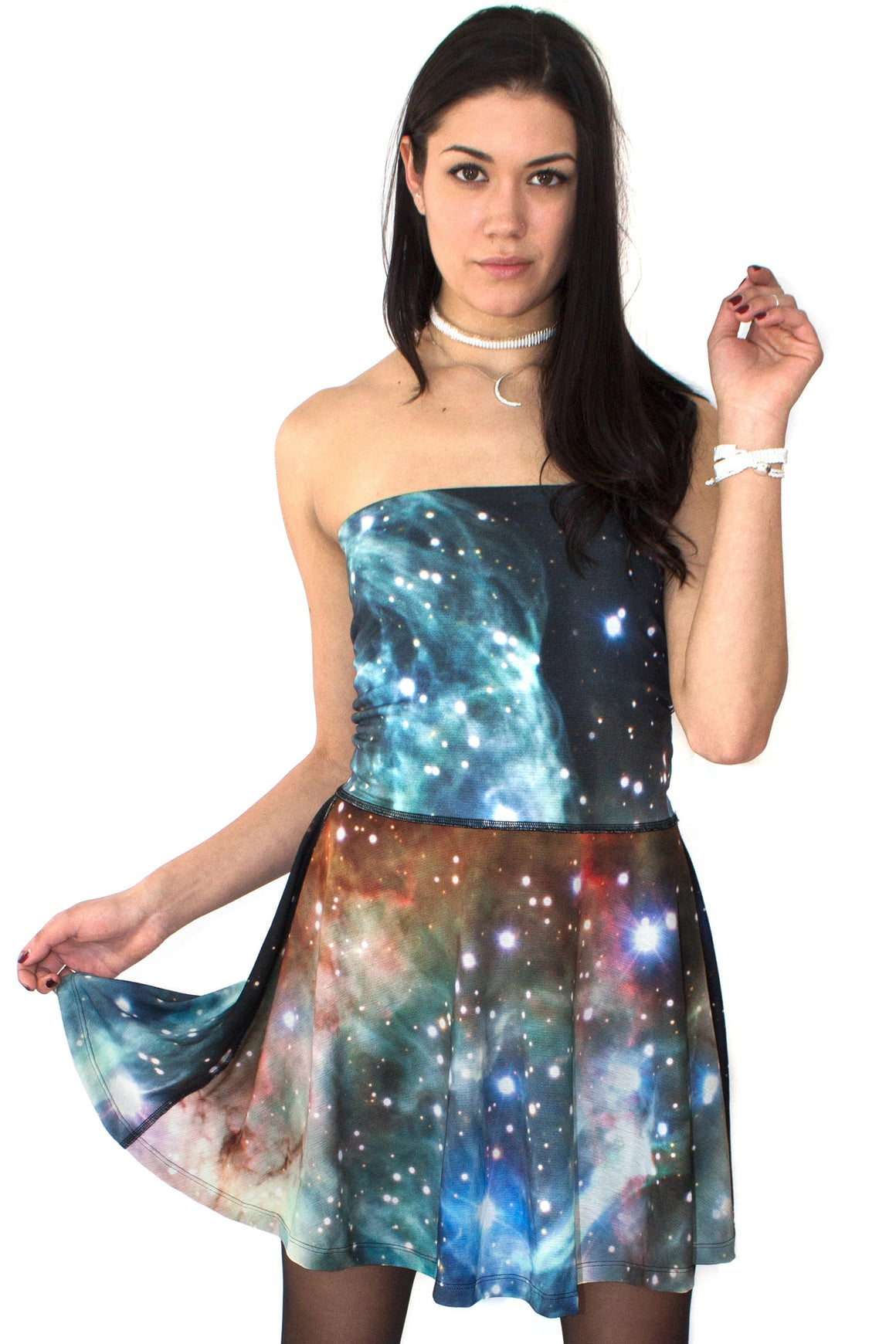 Thor Nebula Dress Skirt, Galaxy Print Clothing, Shadowplaynyc