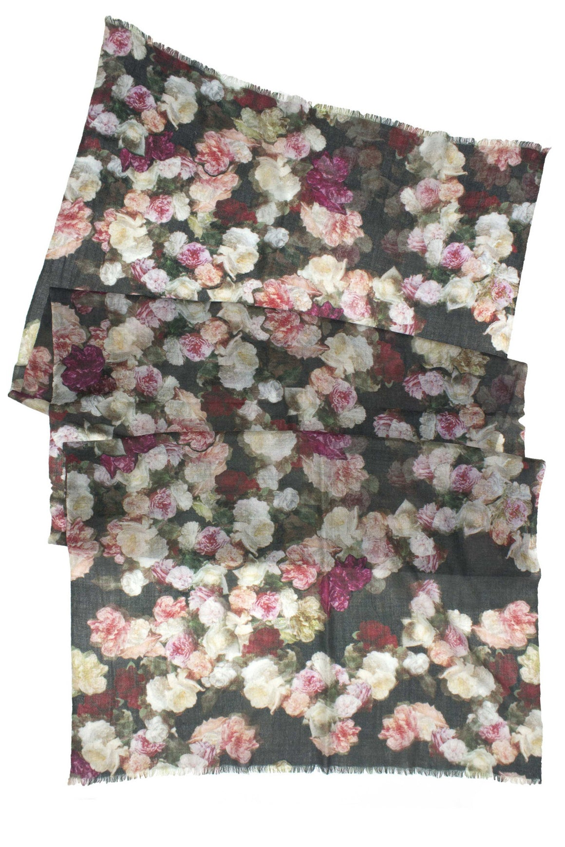 Floral Cashmere Wool Scarf