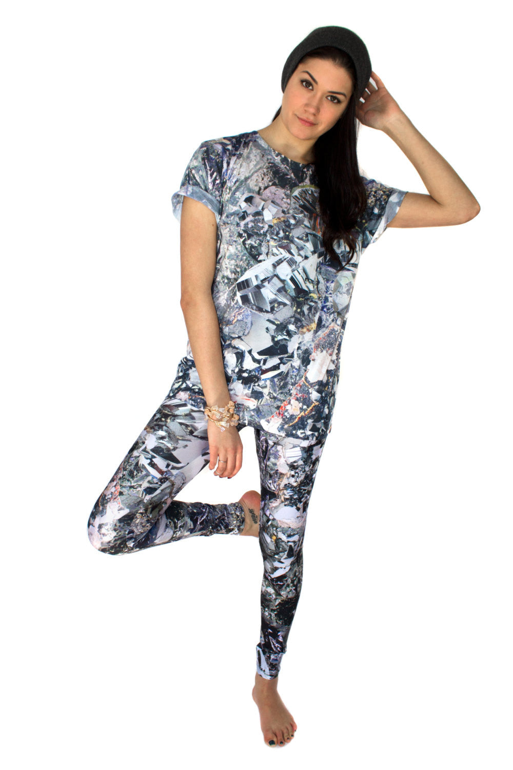 Hematite Tee, Shadowplay New York, Galaxy Print Clothing