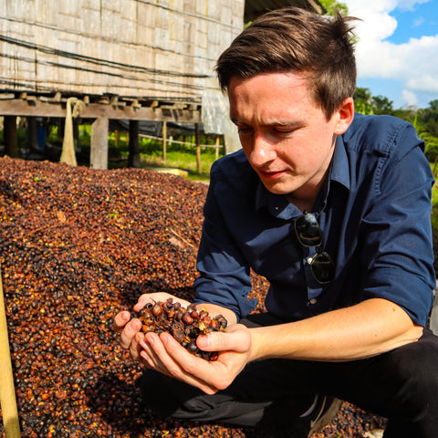 Wild Husk Founder Jack Bennet with Cascara