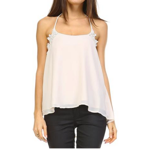 Women's Embroidered Halter Tank