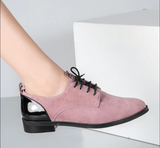 Soft Leather Lace-Up Shoes