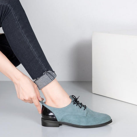 Lace-Up Leather Soft Shoes