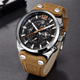 Luxury Elegant Watch With Leather Band